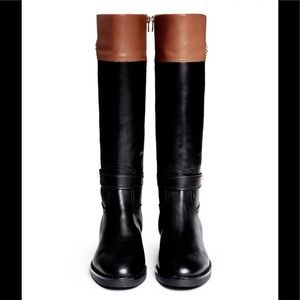 COACH 'Eva' Riding Boot Turnlock ankle strap